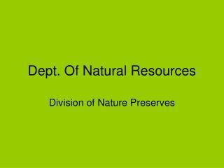 Dept. Of Natural Resources