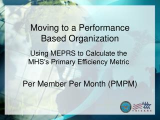 Per Member Per Month (PMPM)