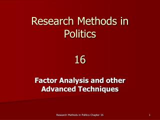 Research Methods in Politics 16