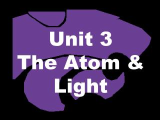 Unit 3 The Atom & Light