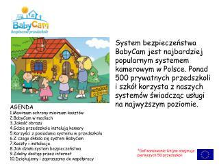 AGENDA 1.Maximum ochrony minimum kosztów 2.BabyCam w mediach 3.Jakość obrazu