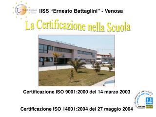 """IISS """"Ernesto Battaglini"""" - Venosa"""