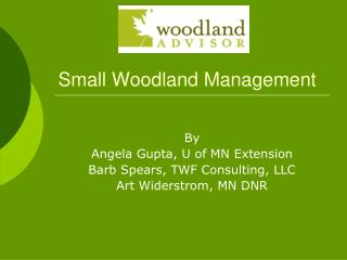 Small Woodland Management