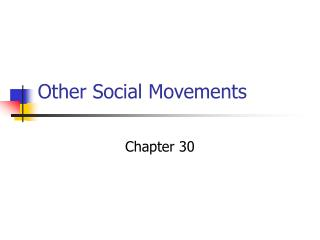 Other Social Movements