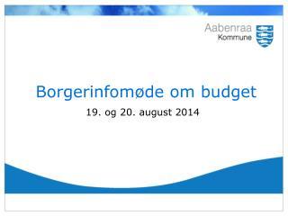 Borgerinfomøde om budget
