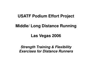 Conditioning Strength Training in Athletics