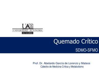 Prof. Dr. Abelardo García de Lorenzo y Mateos Cátedra de Medicina Crítica y Metabolismo