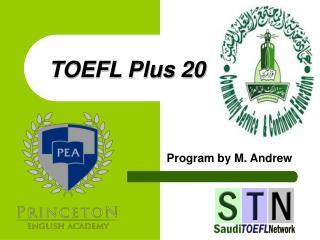 TOEFL Plus 20