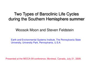 Two Types of Baroclinic Life Cycles during the Southern Hemisphere summer