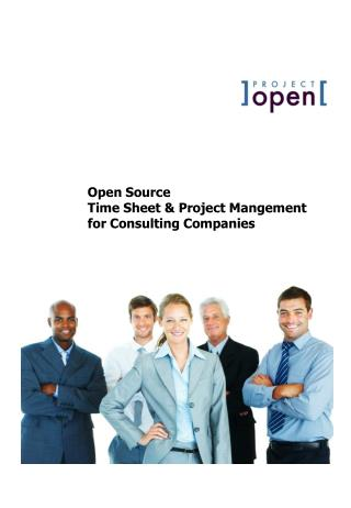 Open Source Time Sheet & Project Mangement for Consulting Companies