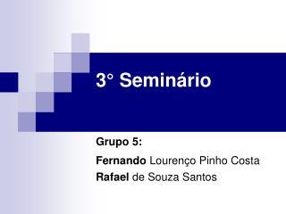3° Seminário