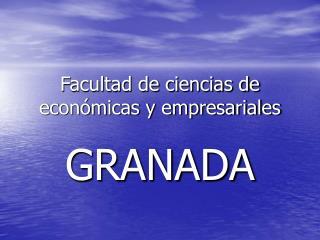 Facultad de ciencias de económicas y empresariales