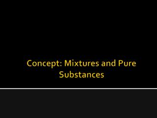 Concept: Mixtures and Pure Substances