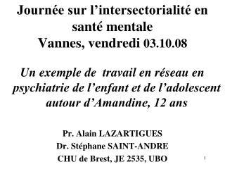 Journée sur l'intersectorialité en santé mentale Vannes, vendredi 03.10.08