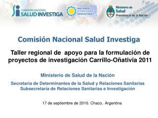 17 de septiembre de 2010. Chaco,  Argentina