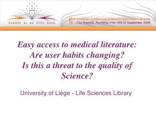 University of Liège - Life Sciences Library