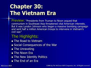 Chapter 30: The Vietnam Era