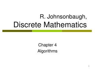 R. Johnsonbaugh, Discrete Mathematics