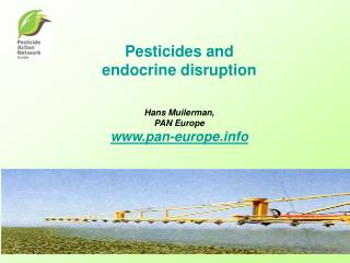 Pesticides and  endocrine disruption Hans Muilerman, PAN Europe www.pan-europe.info