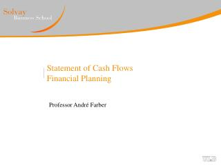 Statement of Cash Flows Financial Planning