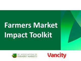 Farmers Market Impact Toolkit