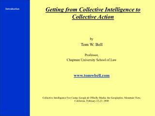 Getting from Collective Intelligence to Collective Action