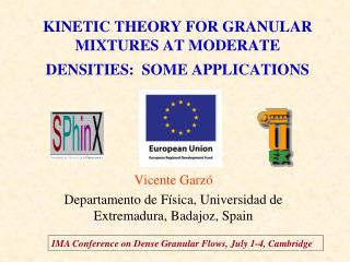 KINETIC THEORY FOR GRANULAR MIXTURES AT MODERATE DENSITIES:  SOME APPLICATIONS