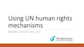 Using UN human rights mechanisms