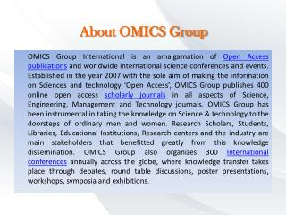 About OMICS Group
