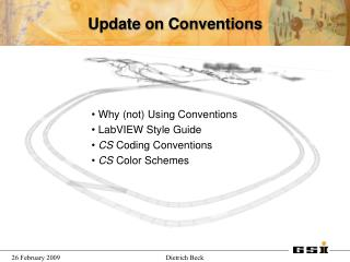Update on Conventions