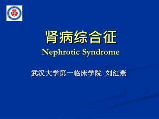 肾病综合征 Nephrotic Syndrome