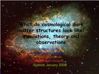 What do cosmological dark matter structures look like: simulations, theory and observations