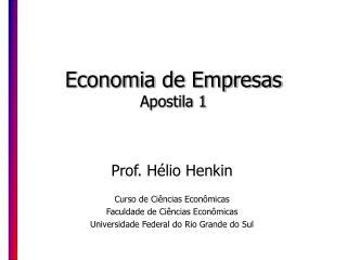 Economia de Empresas Apostila 1