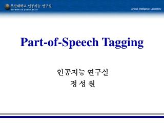 Part-of-Speech Tagging