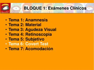 BLOQUE 1: Exámenes Clínicos