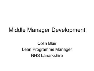 Middle Manager Development