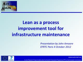 Lean as a process improvement tool for infrastructure maintenance