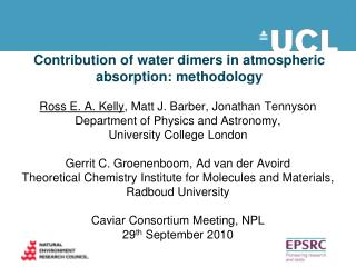 Contribution of water dimers in atmospheric absorption: methodology