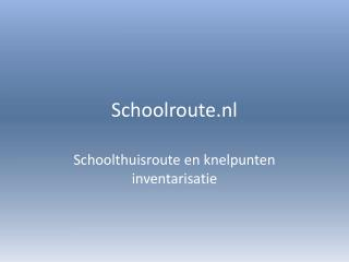 Schoolroute.nl