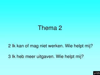 Thema 2