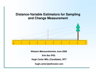 Distance-Variable Estimators for Sampling and Change Measurement