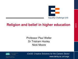 Religion and belief in higher education