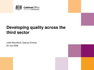 Developing quality across the third sector