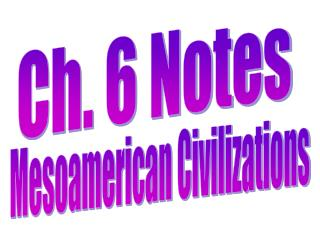 Ch. 6 Notes