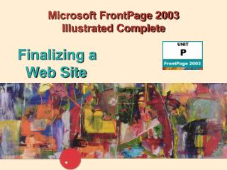 Microsoft FrontPage 2003  Illustrated Complete