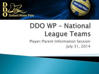 DDO WP – National League Teams