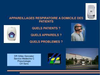 DR Gilles Gonzalez Service Medecine C Pneumologie CH Sens