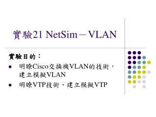 實驗 21 NetSim - VLAN