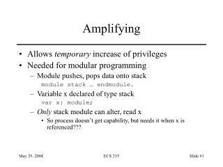Amplifying