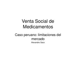 Venta Social de Medicamentos